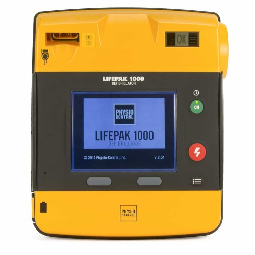 physio control lifepak 1000 front view
